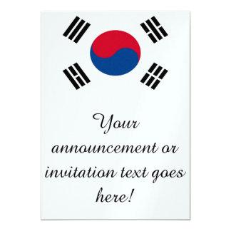 """Bandera de la Corea del Sur Invitación 5"""" X 7"""""""