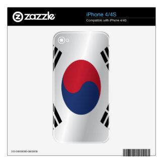 Bandera de la Corea del Sur iPhone 4S Skin