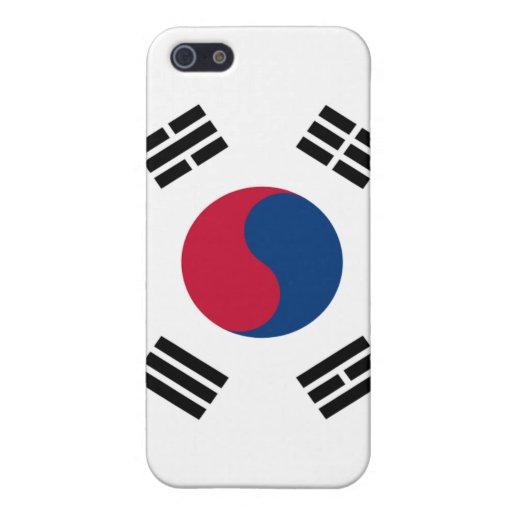 Bandera de la Corea del Sur iPhone 5 Carcasas
