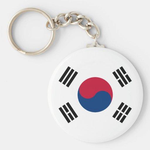 Bandera de la Corea del Sur Llavero Personalizado