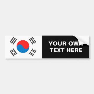 Bandera de la Corea del Sur Pegatina Para Auto