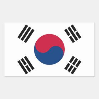 Bandera de la Corea del Sur Pegatina Rectangular