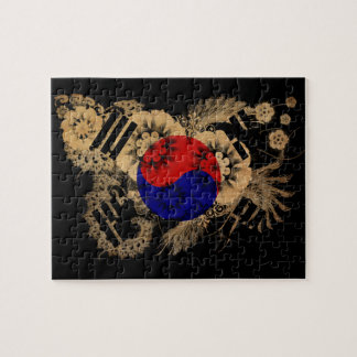 Bandera de la Corea del Sur Rompecabezas Con Fotos