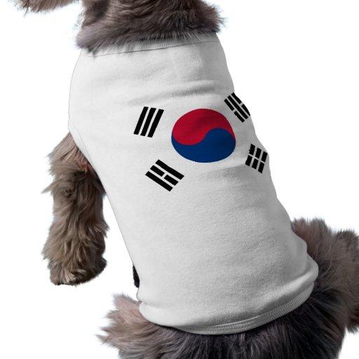 Bandera de la Corea del Sur Playera Sin Mangas Para Perro