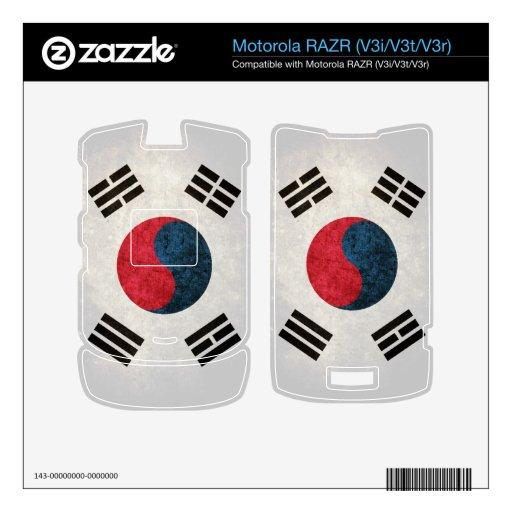 Bandera de la Corea del Sur; Sudcoreano, Calcomanías Para Motorola RAZR