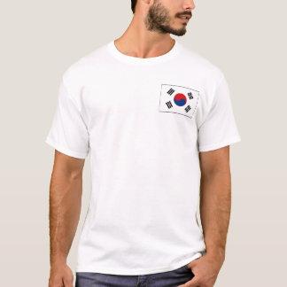Bandera de la Corea del Sur y camiseta del mapa