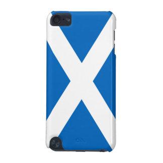 Bandera de la cruz blanca de Escocia en iPod azul