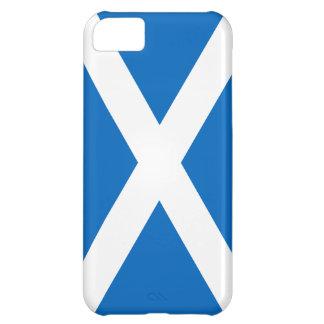 Bandera de la cruz blanca de Escocia en la caja az