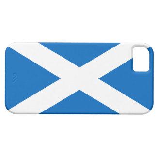Bandera de la cruz blanca de Escocia en la caja iPhone 5 Case-Mate Cobertura