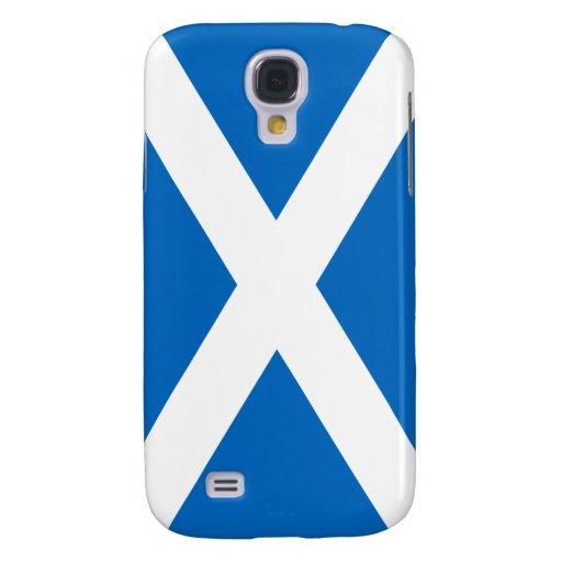 Bandera de la cruz blanca de Escocia en la galaxia Funda Para Galaxy S4