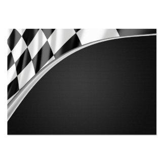 Bandera de la curva del cromo tarjetas de visita grandes