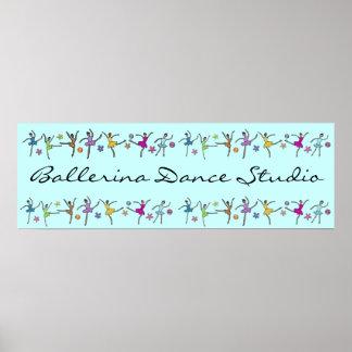Bandera de la danza de la bailarina póster