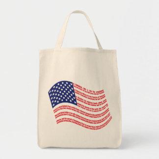 Bandera de la Declaración de Independencia Bolsa Tela Para La Compra