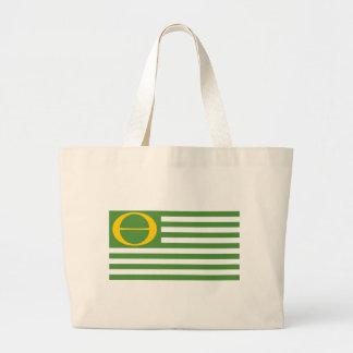 Bandera de la ecología bolsas de mano