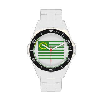 Bandera de la ecología relojes de pulsera