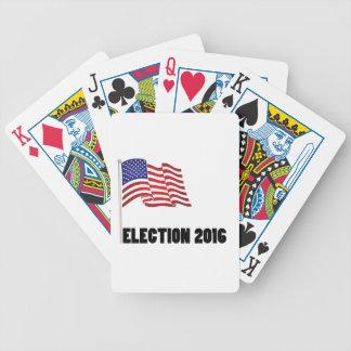 Bandera de la elección 2016 cartas de juego