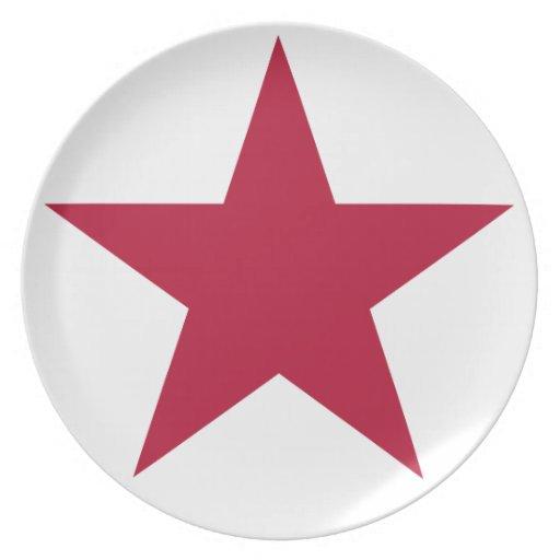 Bandera de la estrella de California Plato