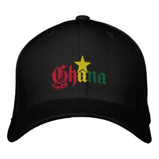 Bandera de la estrella de Ghana del casquillo de G Gorras De Béisbol Bordadas