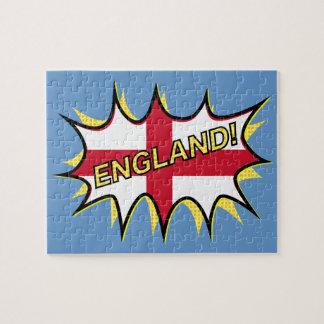 Bandera de la estrella de Inglaterra KAPOW Rompecabezas Con Fotos