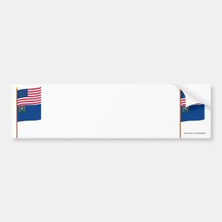 Bandera de la estrella de los E E U U 36 en polo Etiqueta De Parachoque