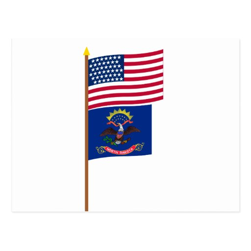 Bandera de la estrella de los E.E.U.U. 43 en polo Postal