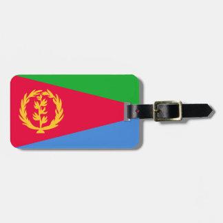 Bandera de la etiqueta del equipaje de Eritrea con Etiquetas Para Equipaje