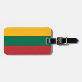 Bandera de la etiqueta del equipaje de Lituania Etiquetas De Maletas