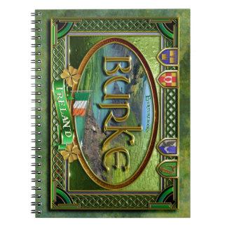 Bandera de la familia de Burke Cuadernos