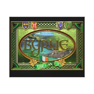 Bandera de la familia de Byrne Lona Estirada Galerias