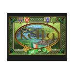 Bandera de la familia de Kelly Impresiones En Lienzo Estiradas