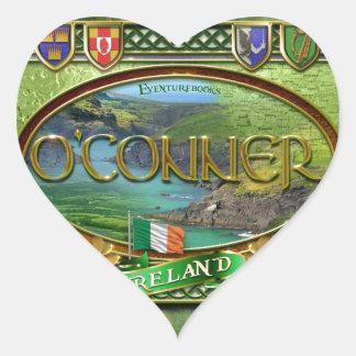 Bandera de la familia de O'Conner Pegatina En Forma De Corazón