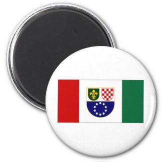 Bandera de la federación de Bosnia y Hercegovina B Imán Redondo 5 Cm