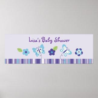 Bandera de la fiesta de bienvenida al bebé del jar posters