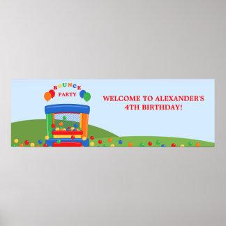 Bandera de la fiesta de cumpleaños de la casa de póster