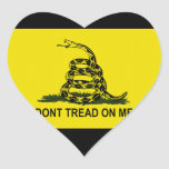 Bandera de la fiesta del té calcomanía de corazón
