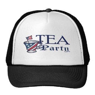 Bandera de la fiesta del té gorra