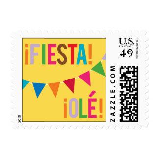Bandera de la fiesta sellos postales
