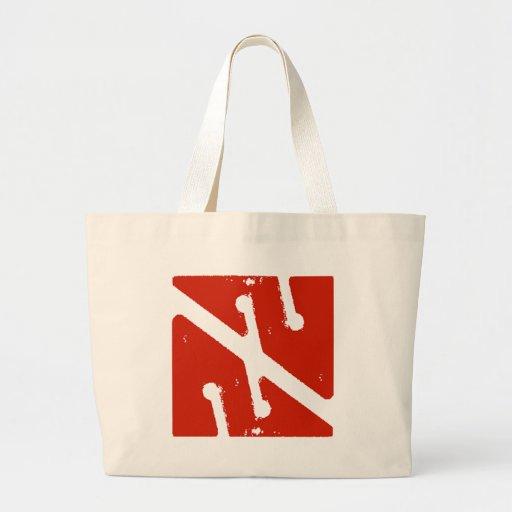 bandera de la flecha de la cueva bolsa de mano