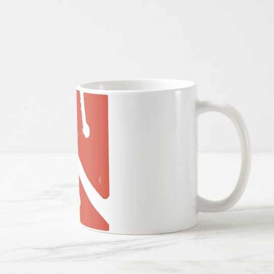 bandera de la flecha de la cueva taza de café