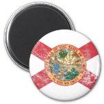 Bandera de la Florida (apenada) Iman Para Frigorífico