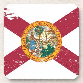 Bandera de la Florida del Grunge Posavasos