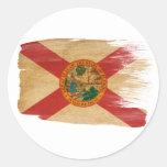 Bandera de la Florida Pegatina Redonda