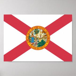 Bandera de la Florida Póster