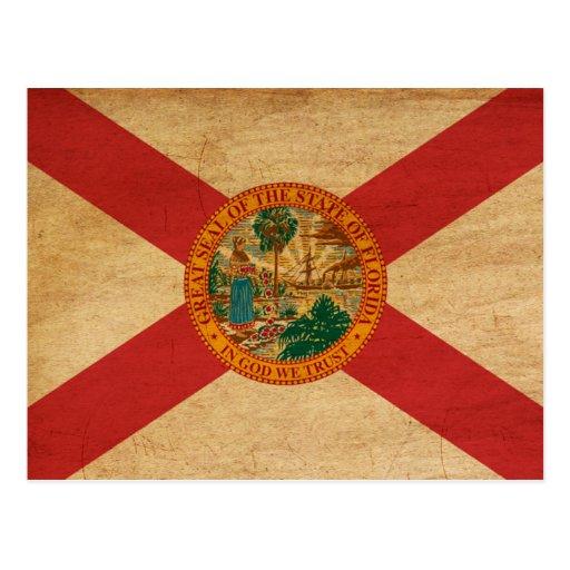 Bandera de la Florida Tarjeta Postal