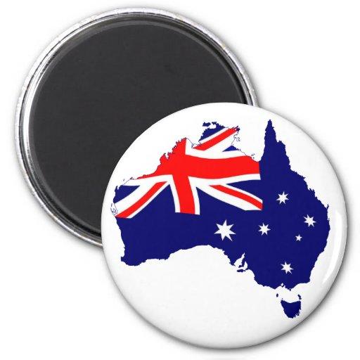 Bandera de la forma de Australia Iman De Nevera