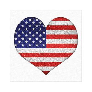 Bandera de la forma del corazón del Grunge de los