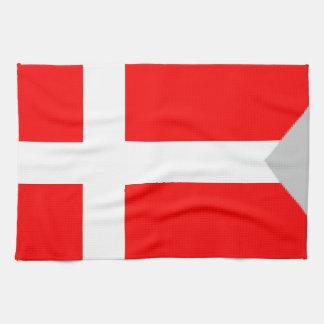 Bandera de la fractura (Dinamarca) Toalla De Cocina