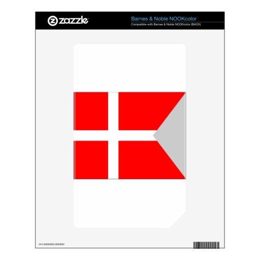 Bandera de la fractura (Dinamarca) Skins Para NOOK Color