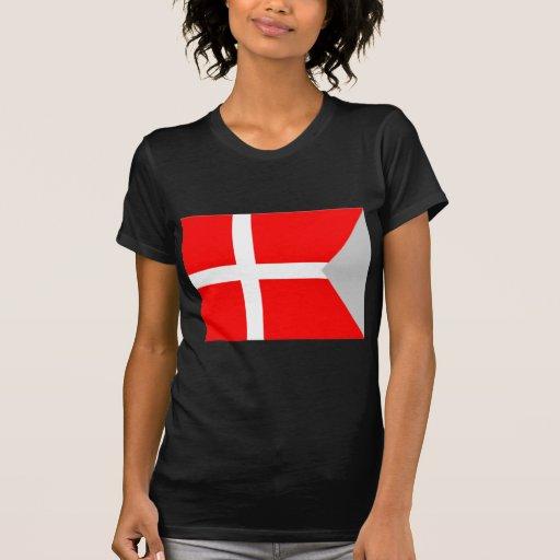 Bandera de la fractura (Dinamarca) T-shirts