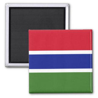 Bandera de la Gambia Imán Cuadrado
